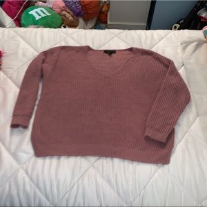 Forever 21 pink crewneck sweater Size M
